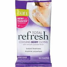 ban total refresh cooling body cloths