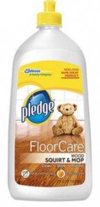 pledge wood floor care