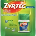 New $4/1 Zyrtec Allergy Relief printable manufacturer's coupon