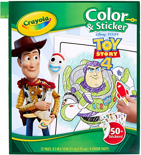 Amazon: $4.99 Crayola Toy Story 4 Coloring Pages ...